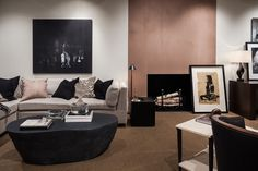 Robert Brown Interior Design neutral, collected living space for ADAC Behind the Windows Fall 2014 - Winter 2014