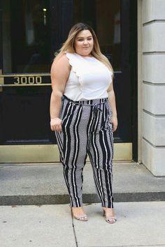 Us size fashion. Fordable plus size clothing. Plus size retailers. Plus size. Us size soft pants. Fat Fashion, Curvy Fashion, Girl Fashion, Fashion Outfits, Womens Fashion, Fashion Art, Looks Plus Size, Curvy Plus Size, Plus Size Jeans