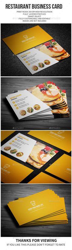Restaurant Business Card Template PSD #design #visitcard Download: http://graphicriver.net/item/restaurant-business-card/13091673?ref=ksioks