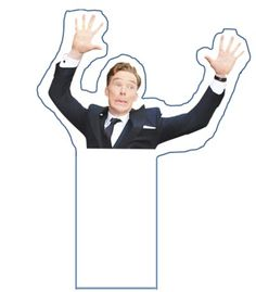 Cut-out Bookmark of Benedict. You're Welcome. NOW I DONT NEED TO MAKE IT!!