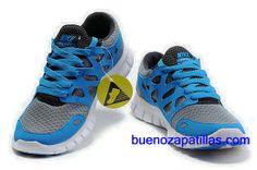 more photos 31b1b 454c6 Mujer Nike Free Run 2 Zapatillas (color   vamp - gris, azul , en