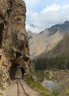 Túnel en el recorrido a Machu Picchu