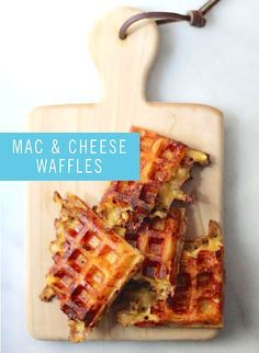 What could be tastier than homemade, creamy mac and cheese? Baking it into a waffle! These cheesy bites will definitely please your family during dinner time.