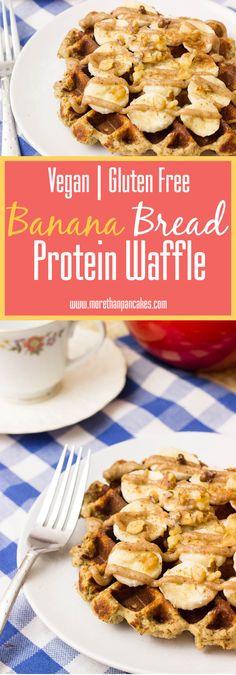 Banana Bread Protein Waffle