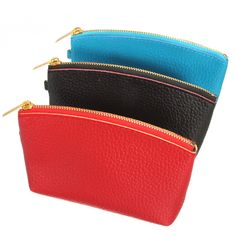 Women PU Leather Zipper Clutch Wallet