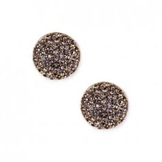 Round Pave Stud Earring