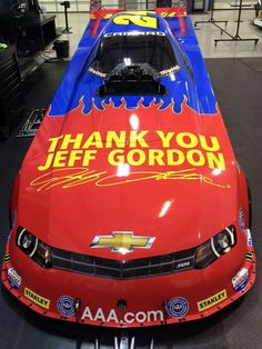 Jeff Gordon Tribute Funny Car John Force will be running this weekend at Carolina Nationals! ! #FunnyCar #Nhra
