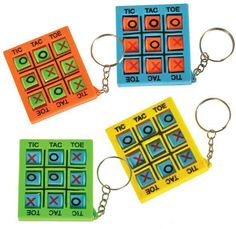 """Key Chain Tic Tac Toe 2"""" inches Case Pack 720"""