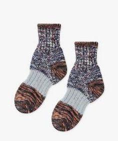 Hansel from Basel - Dapple Chunky Crew Socks, available at LCD