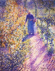 Louis Ritman - Woman Gardening