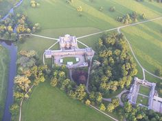 Aerial view of Attingham Park (from hot air balloon) by Moongazing Hare, via Flickr
