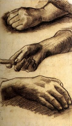 Three Hands study, 1884 Vincent van Gogh Large image: HERE  Hand...