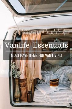 Vanlife Essentials - Must Have Items For Van Living All the essential items for day to day van living. A full list of must-have van life gear that will ensure living on the road is a breeze. Europa Tour, Life Hacks, Rv Hacks, Living On The Road, Van Living, Budget Planer, Vans, Must Have Items, Road Trip Usa