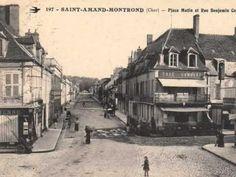 Animation autour de quelques cartes postales anciennes de Saint-Amand-Montrond Saint Amand Montrond, Photos Du, Berry, Animation, Places, Painting, Vintage, Antique Post Cards, Painting Art