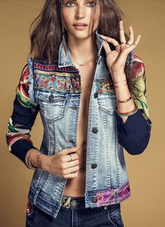 Desigual inspired? ABSOLUTELY FABULOUS! - I WOULD LOVE TO HAVE A STUNNING JACKET LIKE THIS! - LOOKS ABSOLUTELY STUNNING!
