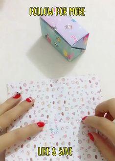 Cool Paper Crafts, Easy Diy Crafts, Diy Paper, Fun Crafts, Crafts For Kids, Instruções Origami, Paper Crafts Origami, Hobbies And Crafts, Diy Gifts