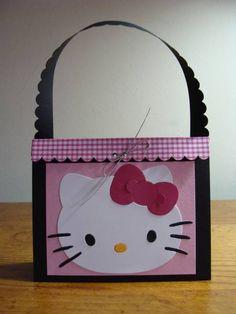 af1baf3a89ab Hello Kitty purse favor Diy Paper Purses
