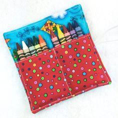 Mini crayon roll boy crayon roll up crayon roll holder gift | Etsy