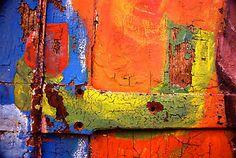 Crusty painted doorway--Etienne Ruggeri from a door in Lyon France