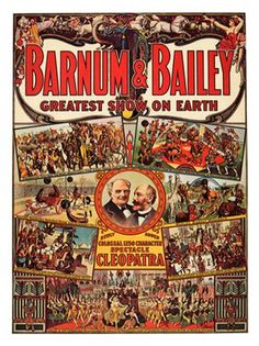 vintage barnum and bailey circus poster