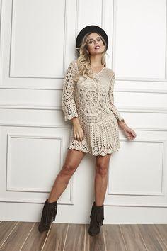 Crochetemoda: Vestido de Crochet - Circulo