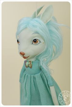 Forget-me-not Hares- Art Doll by the Filigree | Flickr - Photo Sharing!
