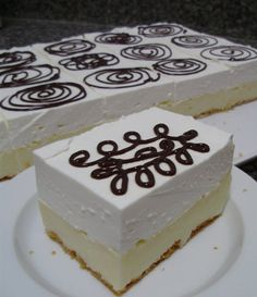 Romanian Desserts, Meringue, No Bake Desserts, Parfait, Vanilla Cake, Biscuits, Sweet Treats, Food And Drink, Sweets