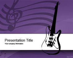 Music Equipment PowerPoint Template is a free violet PowerPoint template with music equipment and music notes in the slide design