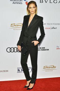 Anja Rubik in Saint Laurent - Elton John AIDS Foundation Benefit Gala, New York - November 2 2016