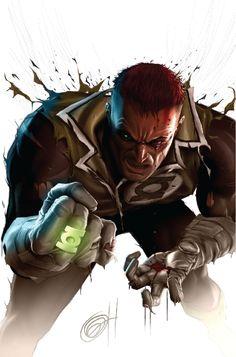 Green Lantern Guy Gardner by Greg Horn Dc Comics Characters, Dc Comics Art, Marvel Dc Comics, Comic Book Artists, Comic Artist, Comic Books Art, Green Lantern Corps, Red Lantern, Green Lanterns