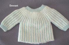 Short rows baby sweater / jacket ~~ Brassière de naissance