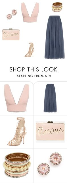 """I heard you called for me, amour!"" by diana-elena-712 on Polyvore featuring Animale, Needle & Thread, Sophia Webster, BCBGMAXAZRIA and Dana Rebecca Designs"