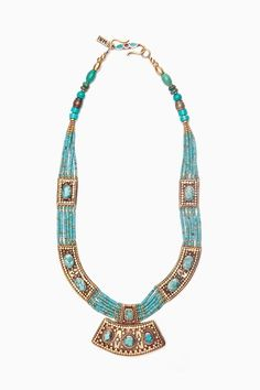 moonshield turquoise necklace by vanessa mooney , so Egyptian looking. I love it !