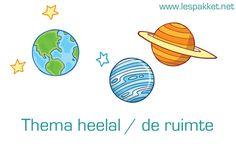 lesideeën en boekentips voor het thema heelal / de ruimte in de kleuterklas Primary School, Pre School, Earth From Space, School Themes, Space Theme, Back To The Future, Solar System, Preschool Activities, Classroom