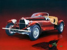 Italian Exotic Car by Miki Karni Bugatti. Italian Exotic Car Canvas Print / Canvas Art by Miki Karni Realistic Oil Painting, Car Painting, Oil Painting On Canvas, Dress Painting, Canvas Art, Exotic Sports Cars, Exotic Cars, Prada Dress, Car Racer