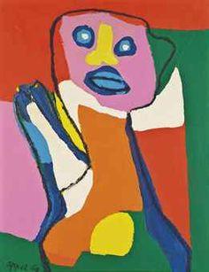 Karel Appel, (1921-2006), was een Nederlands schilder en beeldhouwer in de moderne kunst uit de tweede helft van de twintigste eeuw, die tot de expressionisten kan worden gerekend. Vanaf 1957 reisde Appel regelmatig naar New York. Daar schilderde hij onder andere portretten van jazzmusici. Hij ontwikkelde zijn eigen stijl, onafhankelijk van anderen. Gedurende deze periode ging hij steeds meer in de richting van de abstracte kunst.