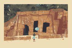 Old Los Angeles Zoo Ruins Print