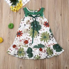 Amazon.com: Ropa de pp0  para niña, floral/limón, vestido de línea A, verano para niños, con lazo, vestido de domingo, para fiestas informales, Moderno / Equipada, 80: Clothing Kids Outfits Girls, Girl Outfits, Cute Outfits, Little Girl Dresses, Girls Dresses, Summer Dresses, Baby Girl Fashion, Kids Fashion, Handmade Baby Clothes
