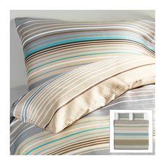 IKEA - PALMLILJA, Dynebetræk og 2 pudebetræk, 240x220/60x70 cm, , Satinvævet sengetøj af lyocell/bomuld er meget blødt og behageligt at sove i, har en flot glans og ser smukt ud på din seng.Lyocell absorberer og leder fugt bort. Det hjælper med at holde din kropstemperatur behagelig og ensartet, så du kan sove godt hele natten.Skjulte trykknapper holder dynen på plads.