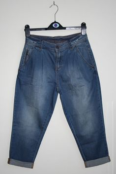 Ted Baker Woman Girl Cropped Jeans Trouses Size XS Fashion Designer Cotton Blend