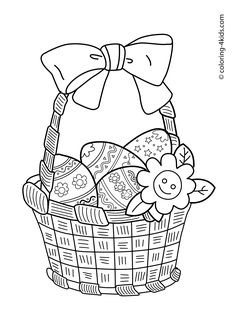 * Easter eggs coloring pages