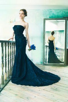 BTNV165 #NOVARESE #ノバレーゼ #colordress #lace #navy