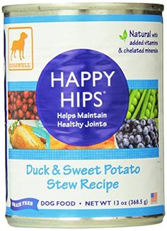 Dogswell Happy Hips for Dogs Duck  Sweet Potato Stew Recipe 13Ounce Cans Pack of 12 ** Check this awesome product by going to the link at the image.