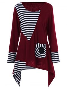 GET $50 NOW | Join RoseGal: Get YOUR $50 NOW!http://www.rosegal.com/plus-size-t-shirts/plus-size-asymmetric-striped-tunic-994298.html?seid=2275071rg994298