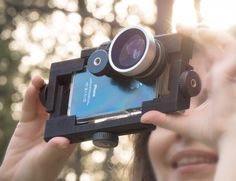 Phone Paal lets you use zoom and wide lenses on your phone. Also attach your phone to selfie-sticks & tripods, microphones, lens filters, and other camera accessories.