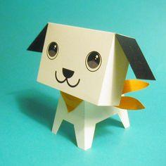ボックス ドッグ パピー 。  フィギュアの元になったペーパー・クラフトです。  http://www10.ocn.ne.jp/~papiy/bdp2007.pdf