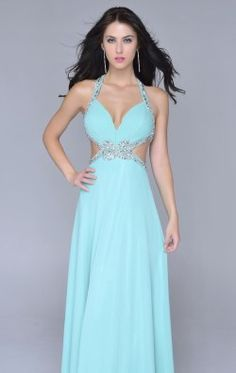 Beaded Open Back Gown by Nina Canacci 1054