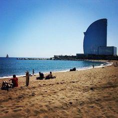 Platja de la Barceloneta in Barcelona, Cataluña