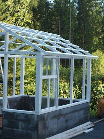 Window Greenhouse, Build A Greenhouse, Greenhouse Gardening, Outdoor Plants, Outdoor Gardens, Spa Rooms, She Sheds, Shed Design, Garden Trellis