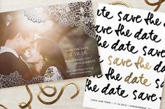 Black and gold save the dates from @minted http://www.weddingchicks.com/save-the-date-with-minted/
